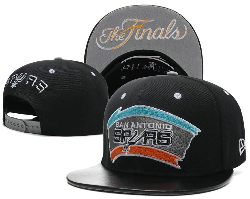 San Antonio Spurs The Finals Black Snapback Hat SD 1 0617
